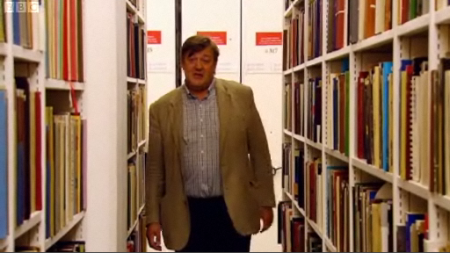 Stephen Fry in the British Library basements