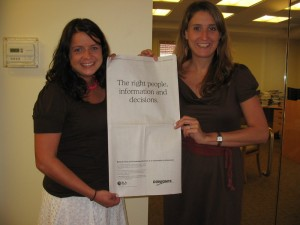 Stacey Bowers and Cara Schatz of the SLA staff