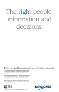 Wall Street Journal Advert for Information Professionals