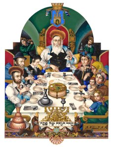 szyk-haggadah-family-at-seder