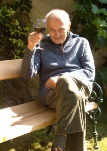 Retired man on bench
