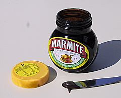 (Marmite jar - 250g size Photo by User:Malcolm Farmer, 28 June 2003 Category:Spreads)
