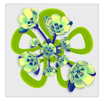 Electrobloom flower